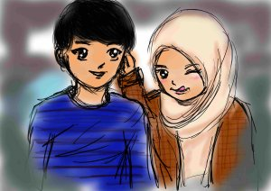 chibi_muslimah_couple_by_wolfie_yuffie-d4ps5bp