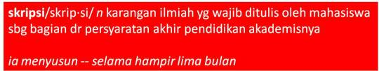 menurut KBBI (Kamus Besar Bahasa Indonesia)